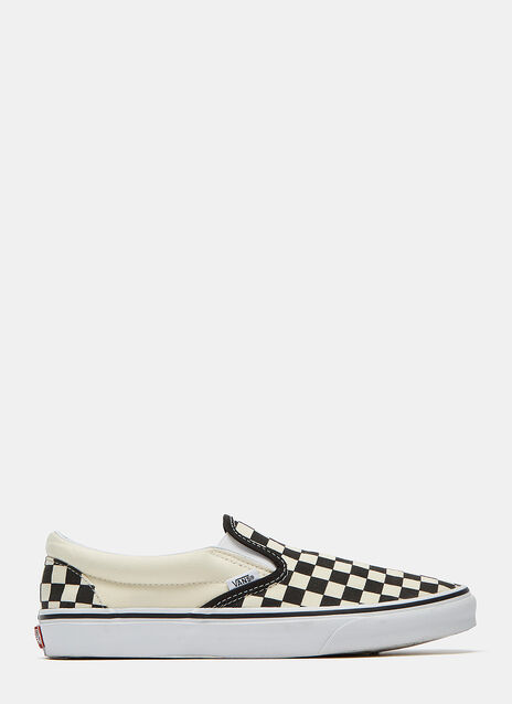 Checkerboard Slip-On Sneakers