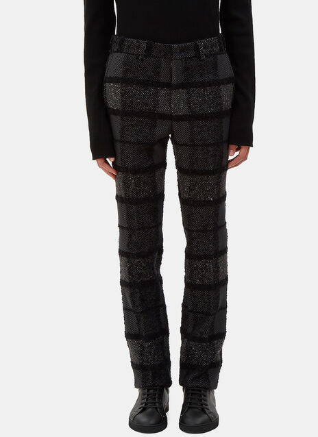 Tactile Multi-Checked Straight Leg Pants
