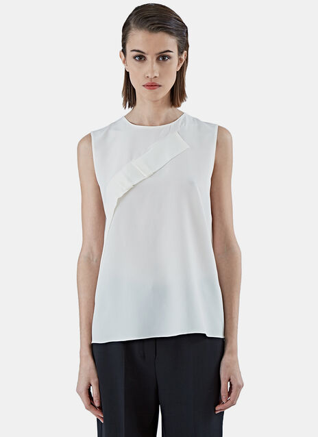 AGNONA INSERT PLEAT SL TOP