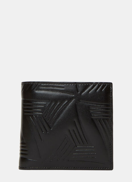 Embossed Leather Fold Wallet
