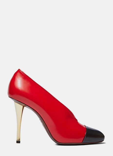 Bi-Colour Stiletto Heeled Pumps
