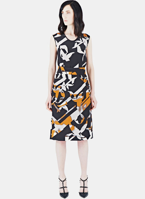 Sleeveless Silk Printed Dress 21
