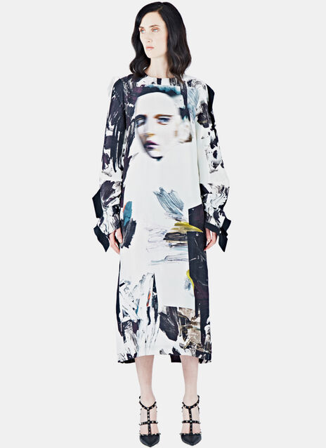 Gemma Silk Printed Dress
