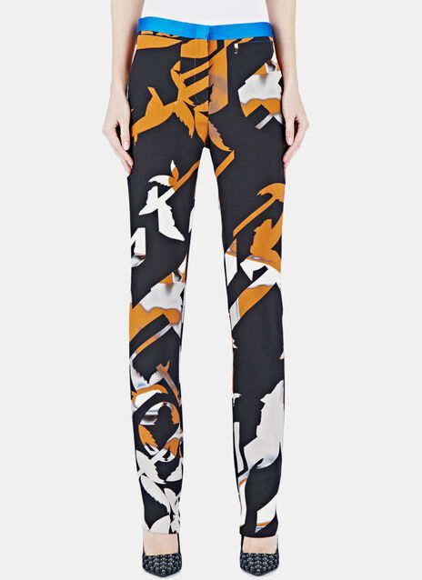 Silk Jacquard Pants 10