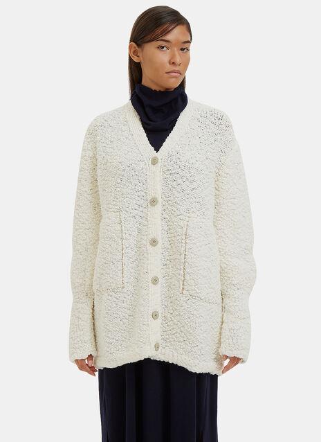 Oversized Crust 3 Knit Cardigan
