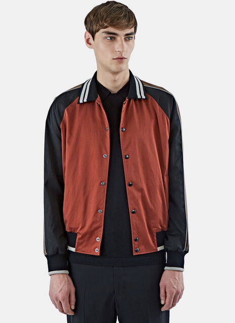 Stripe Baseball Jacket