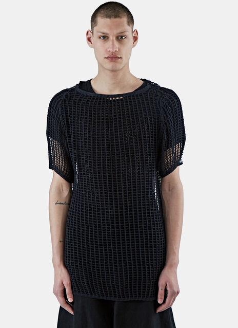Ken Oversized Mesh Knit T-Shirt