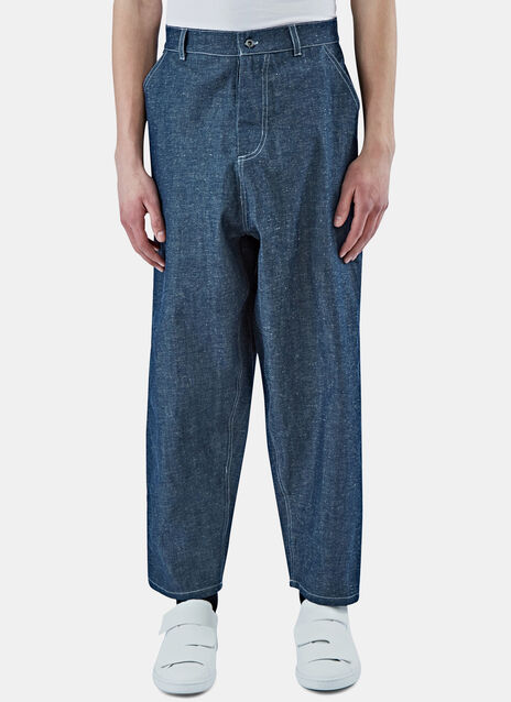 Wide Leg Selvedge Denim Pants