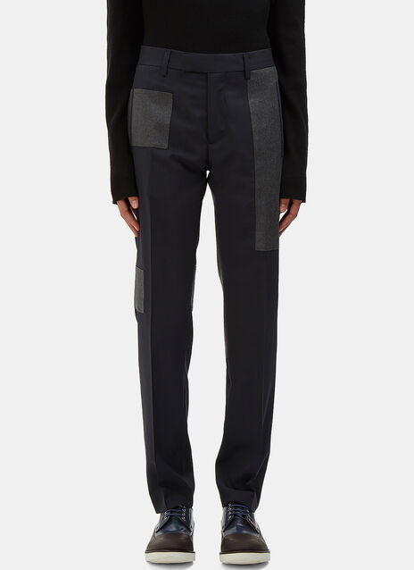 Patchwork Tailored Pants