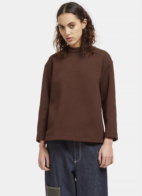 Oversized Crimplene Open Back Sweater