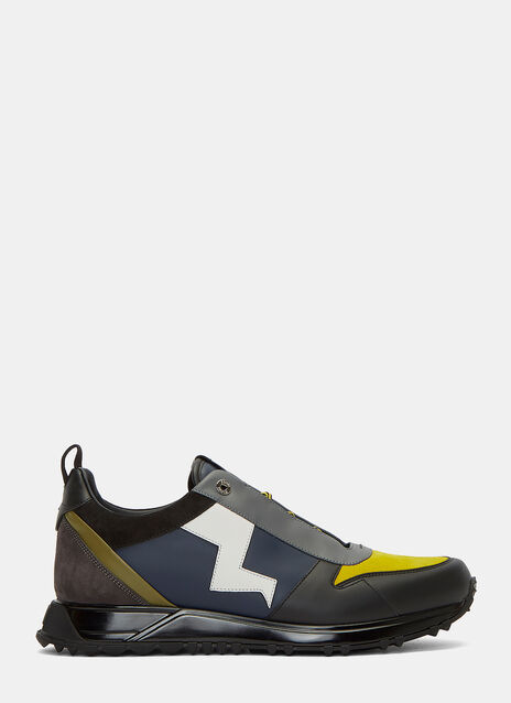 Contrast Lightning Bolt Sneakers