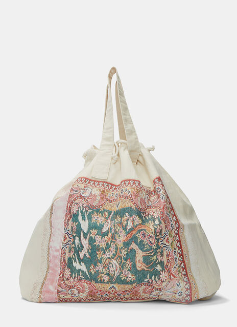 Tapestry Print Shopper Bag