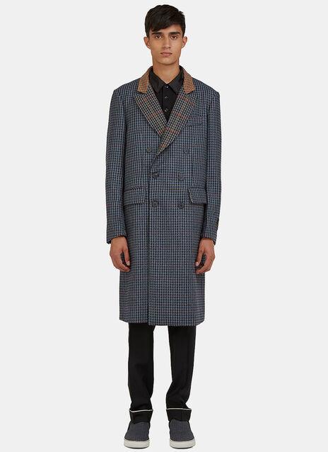 Shetland Tweed Double-Breasted Coat