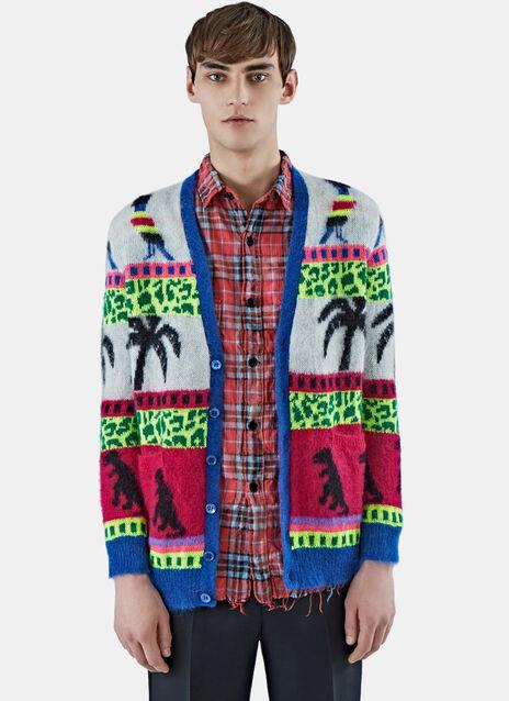 Oversized Palm Knit Cardigan