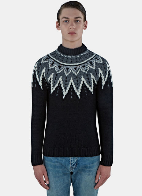 Fair Isle Sequin Knitted Sweater