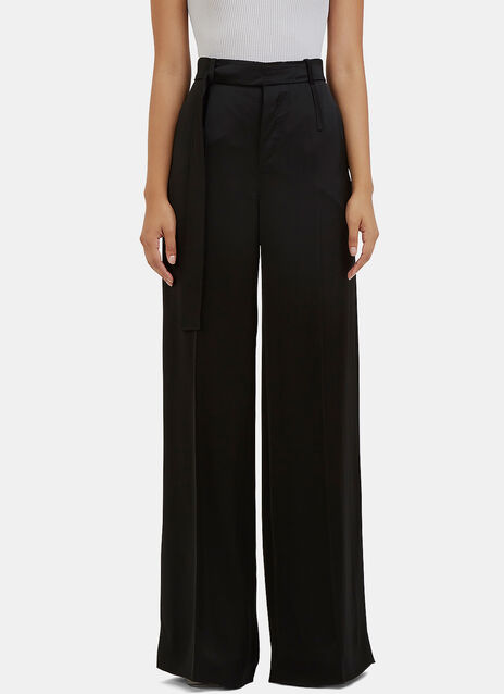 Huranal Wide Leg Satin Pants