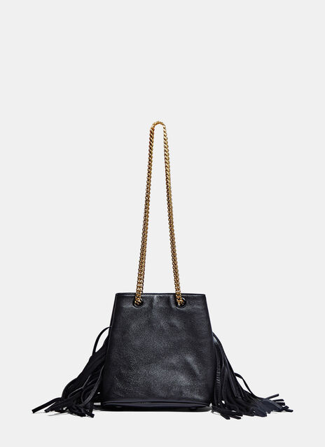 Emmanuelle Mini Fringed Bucket Bag