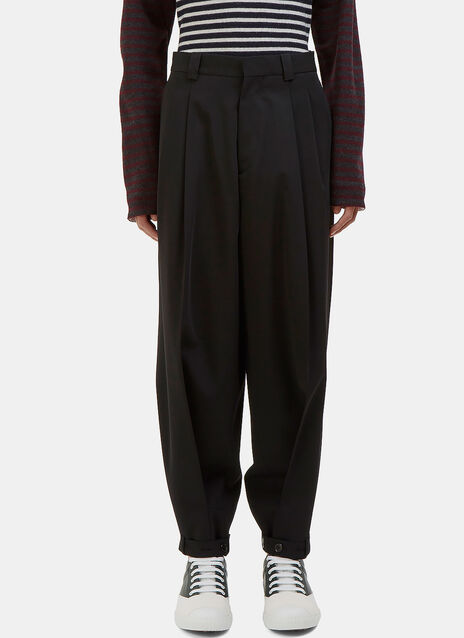 Wide Strapped Cuff Pants