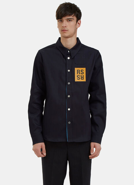 Logo Patch Denim Shirt