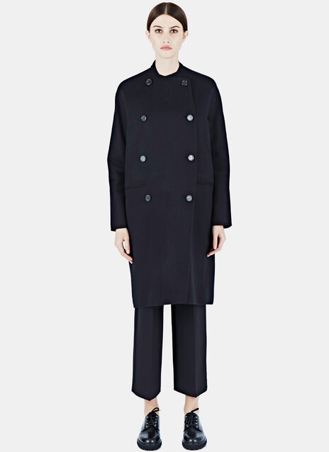 Long Double-Breasted Cashmere Coat
