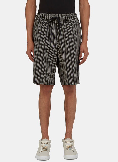 Arc Game Striped Shorts
