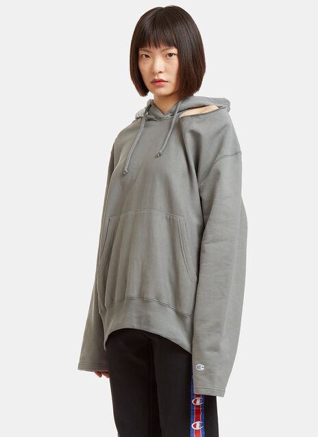 Champion Cut-Out Shoulder Hooded Sweater