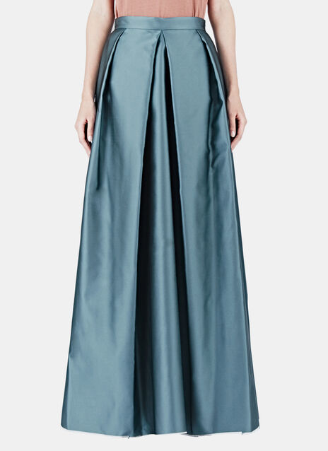 Long Structured Satin Skirt