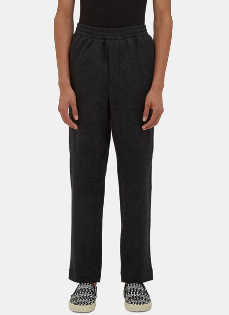 Carrot Cut Felted Wool Track Pants