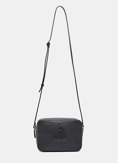 Logo Mini Crossbody Leather Bag