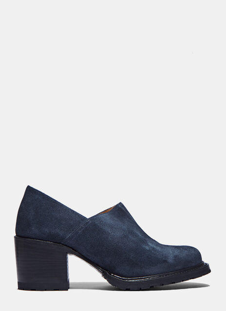 Suede Heeled Not-Clogs