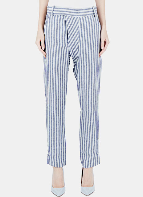 Striped Slim Leg Pants