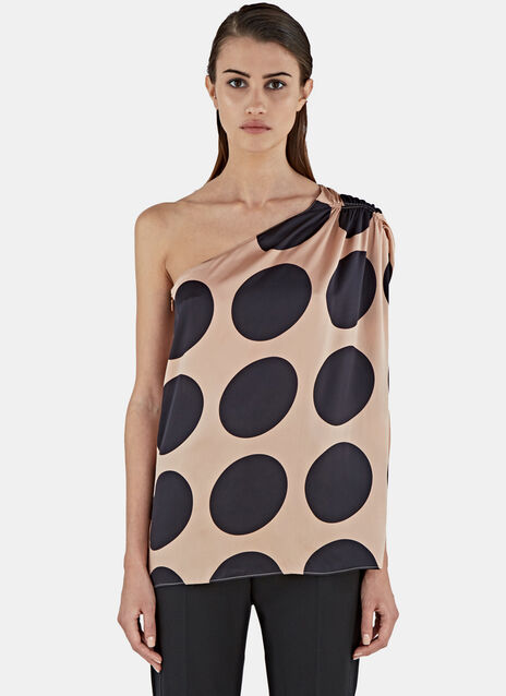Polka Dot One Shouldered Top