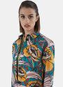 Long Floral Jacquard Shirt