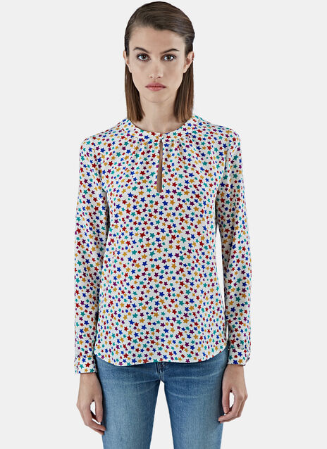Star Print Long Sleeved Blouse