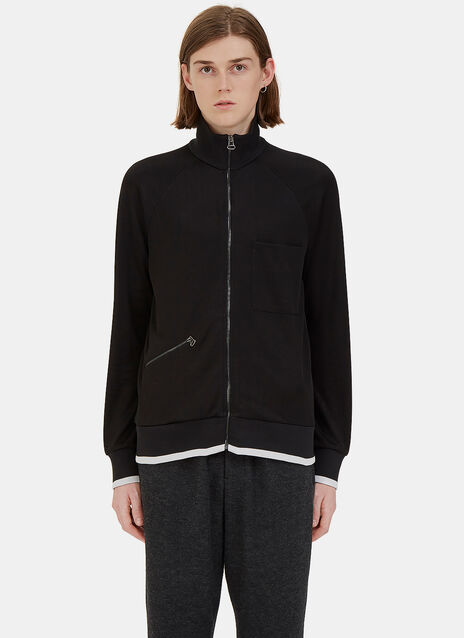 Zip-Up Technical Jersey Jacket