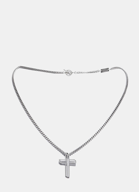 Short Cross Charm Necklace