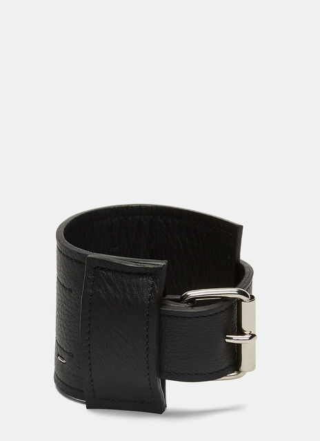 Leather Stapled Cuff Bracelet