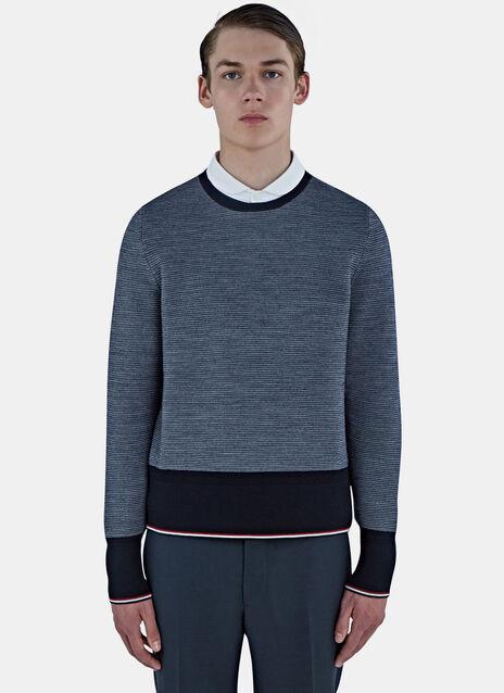Oxford Ottoman Stitched Stripe Sweater