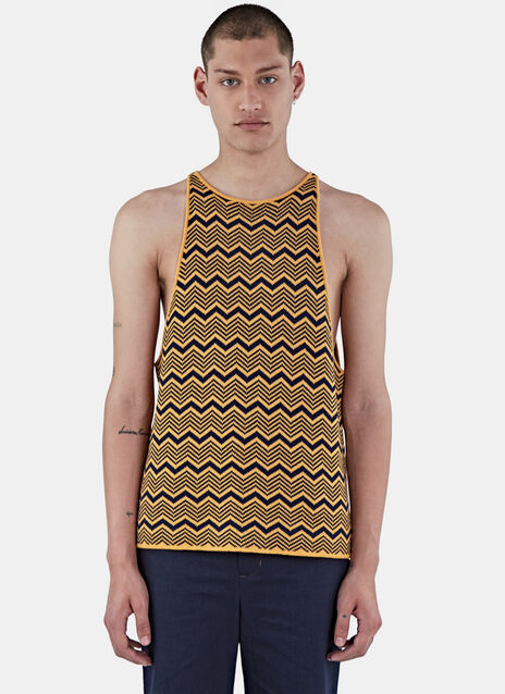 Depara Zigzag Knit Vest Top