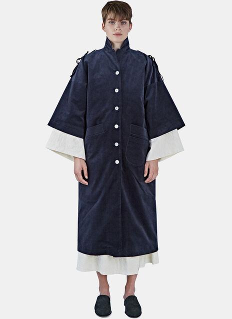 Long Oversized Corduroy Coat