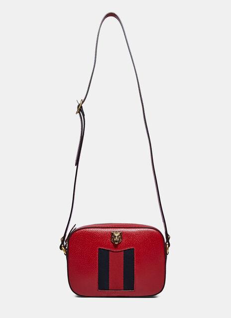 Animalier Tiger Emblem Crossbody Bag