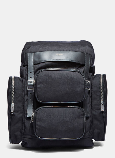 Délavé Multi- Pocket Canvas Backpack