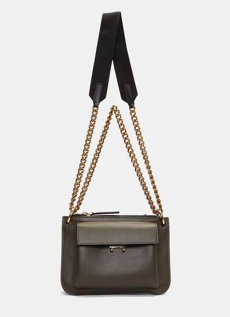 Bandoleer Pocket Crossbody Chain Bag