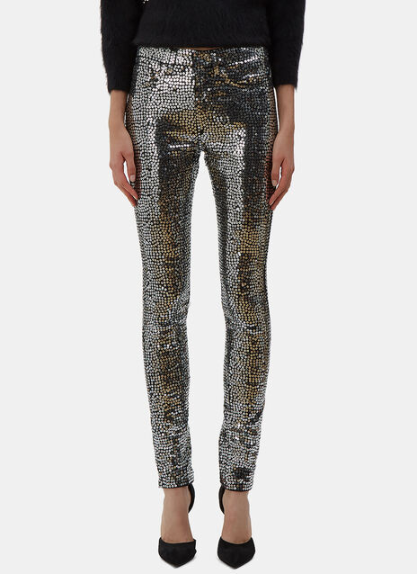 Sequin Skinny Jeans