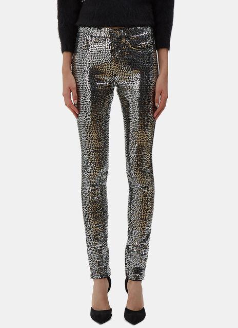 Sequin Skinny Jeans