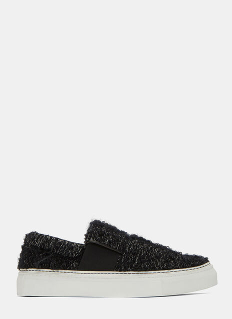 XII Creased Leather Slip-On Sneakers