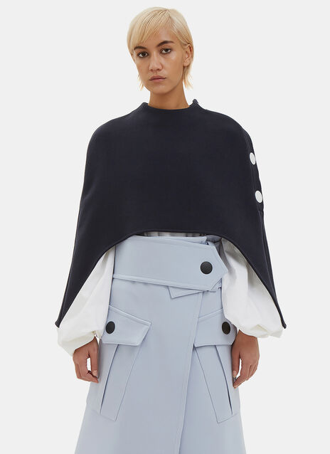 Cropped Cut-Out Cape