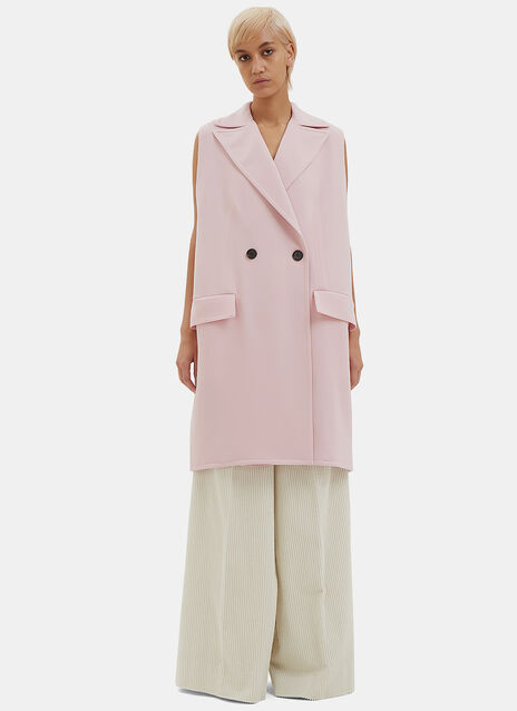 Oversized Double-Faced Crepe Gilet