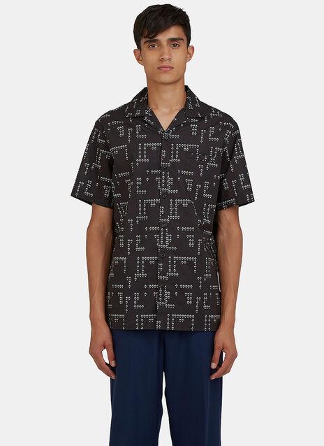 Floral Printed Bowling Shirt