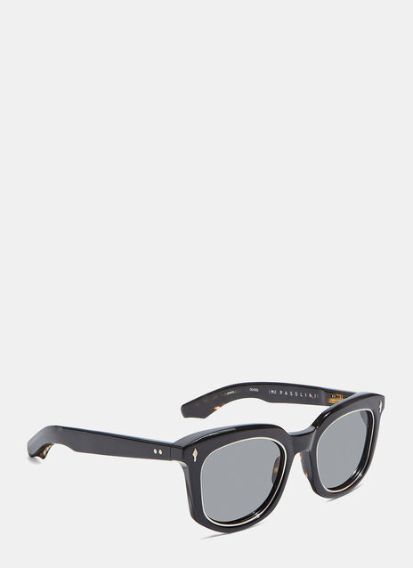 JACQUES MARIE MAGE PASOLINI SUNGLASSES IN BLACK